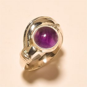 Amethyst Ring Solid Sterling Silver