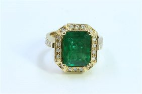 Natural Emerald 4.41ct Diamond 0.35ct