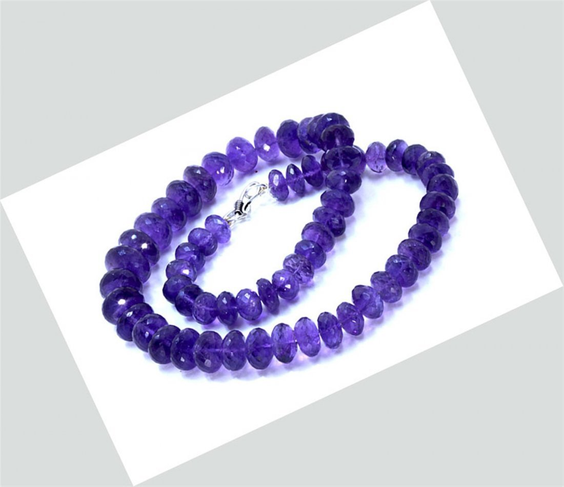 401 ct & up Amethyst Faceted Vintage Smooth Rondelle
