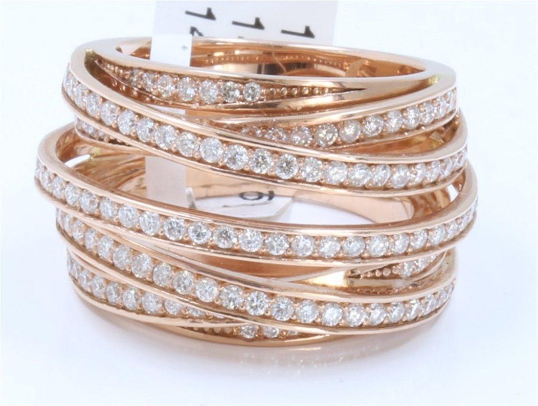 14K ROSE GOLD DIAMOND RING:14.83