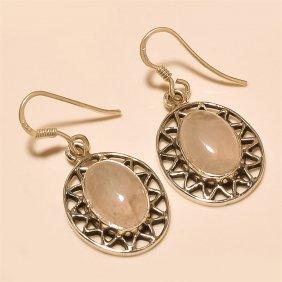 Rose Quartz Earring Solid Sterling Silver