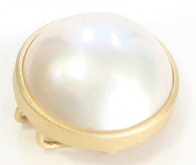 14k Yellow Gold Pearl Pendant:2.16g/pearl
