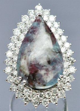 Rare Brazilian Parabia 10.61 Ctw & Diamond Ring