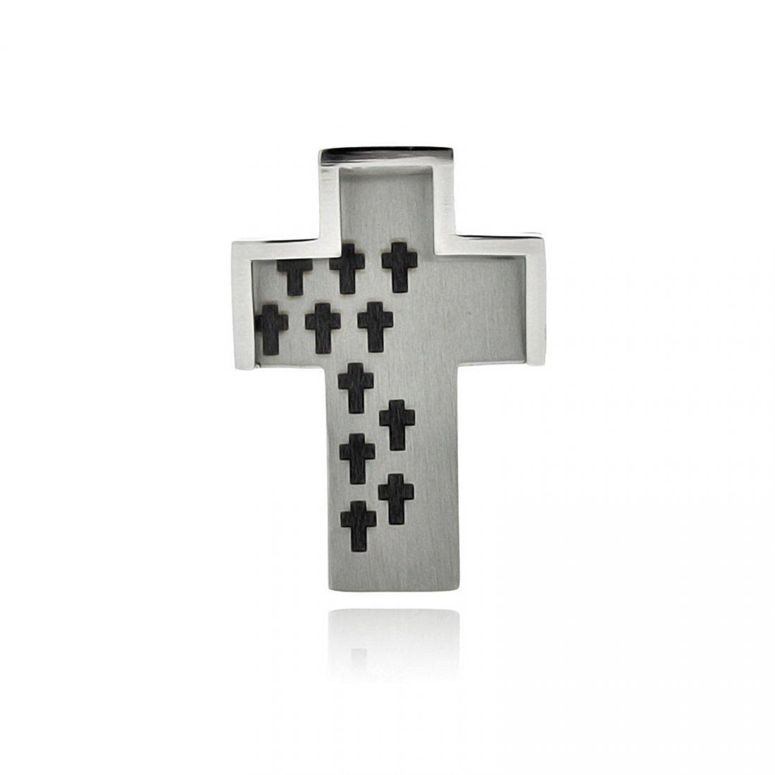 Stainless Steel Multi Cross Charm Pendant ssp00349
