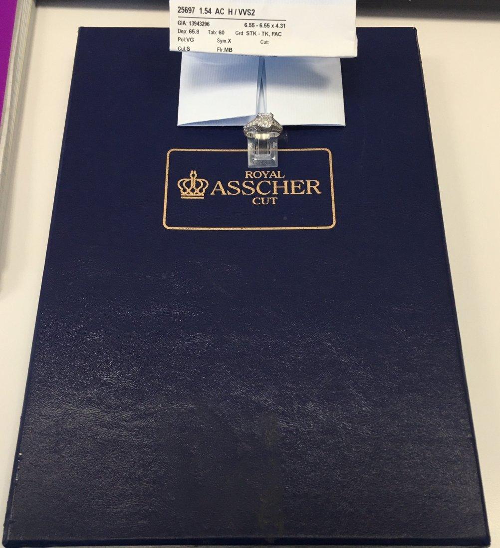 very rare Royal Asscher Cut 1.54 Carat GIA