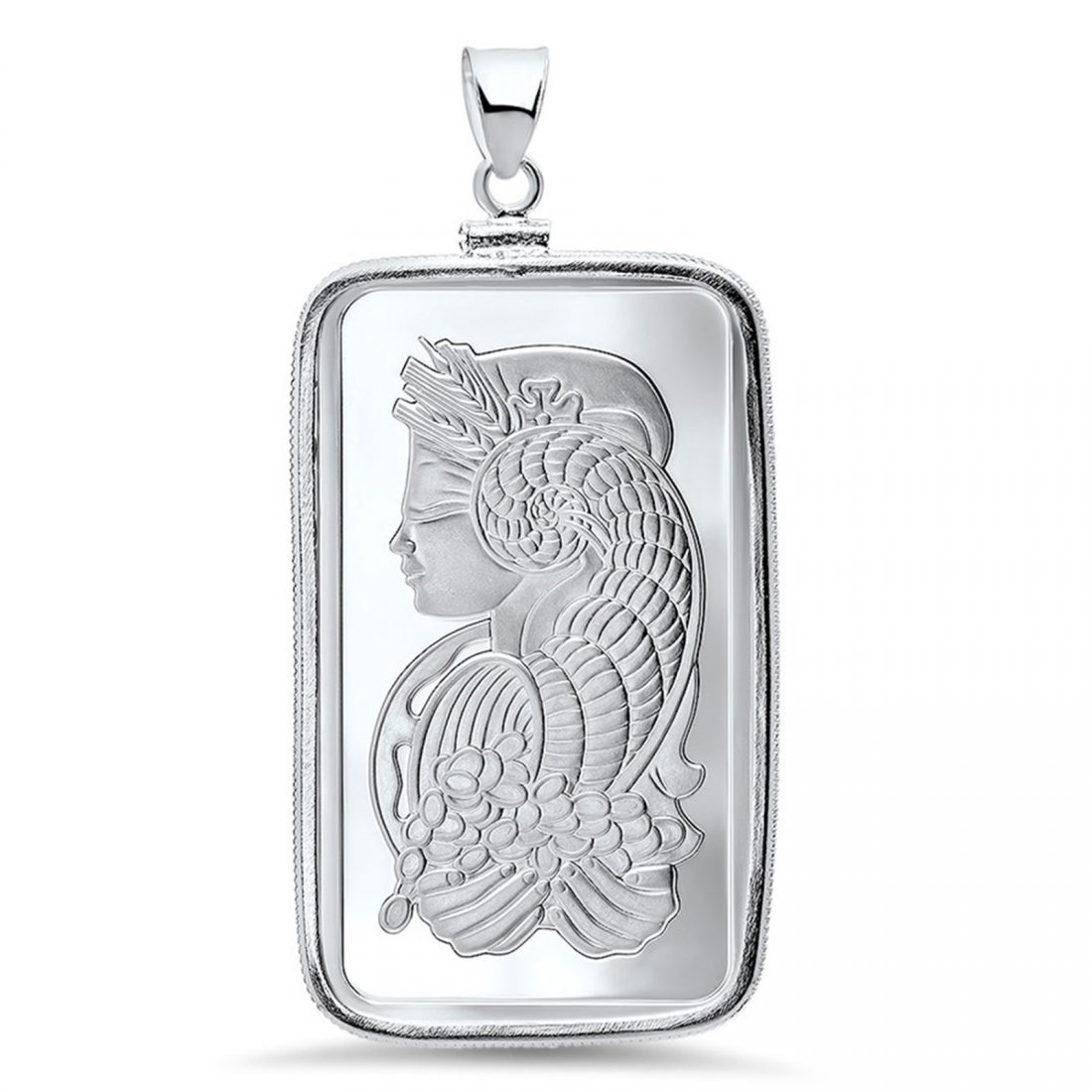 1 oz Silver Bar - Pamp Suisse Pendant (Fortuna)