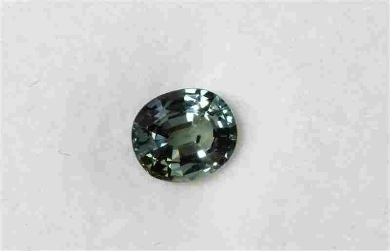 0.90ct Oval Shape  Natural Ceylon Green Sapphire