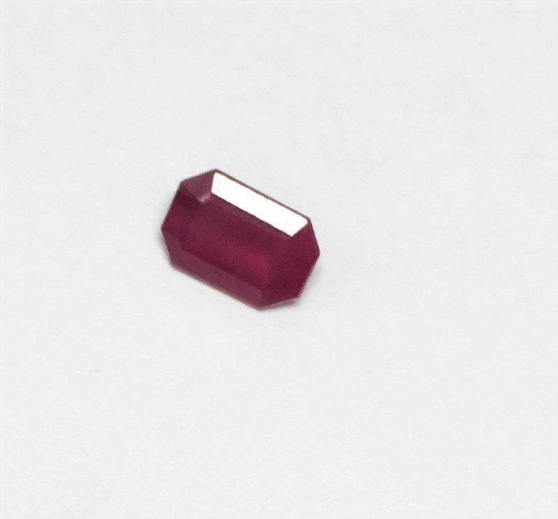 0.62ct Emerald Cut Ruby