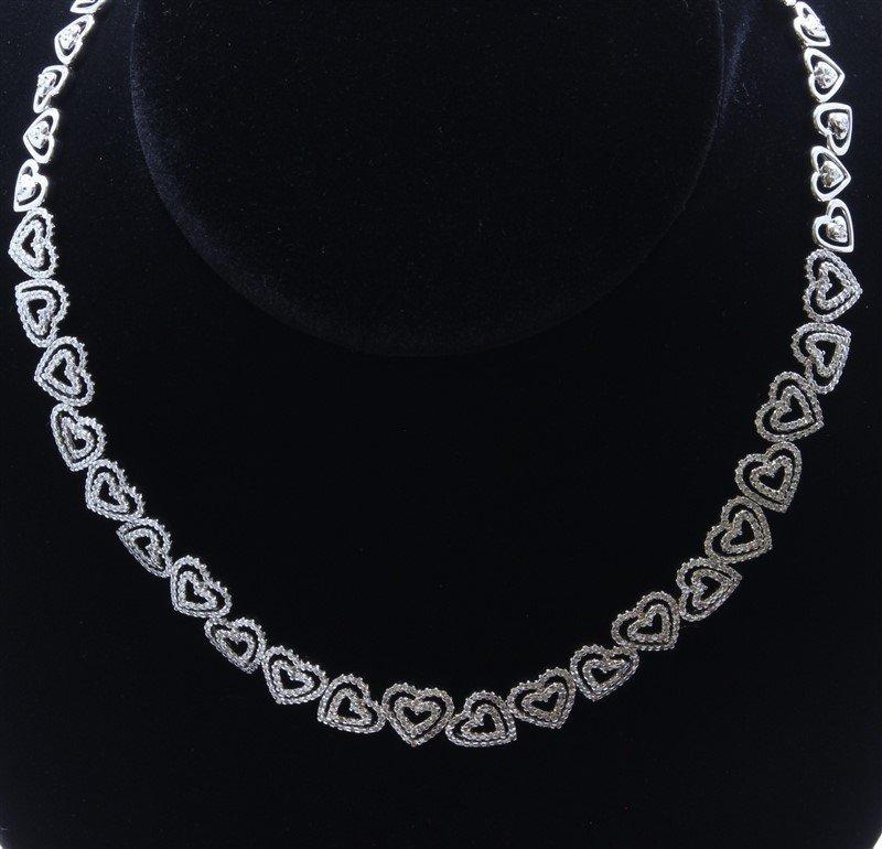 18K White Gold Necklace/Diamond- 5.46ct