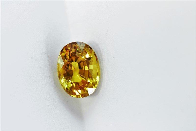 3.71ct Oval Cut Treated Natural Ceylon Yellow Sapphire