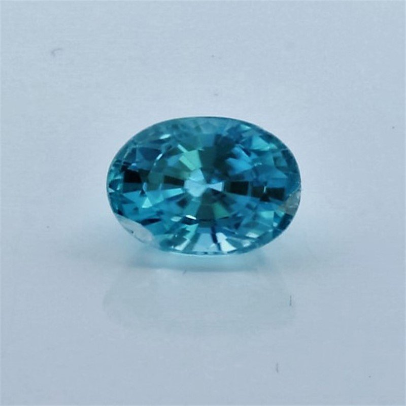 1.68ct Oval Shape blue Zircon