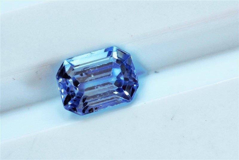 1.33ct Emerald Cut Natural Blue Ceylon Sapphire
