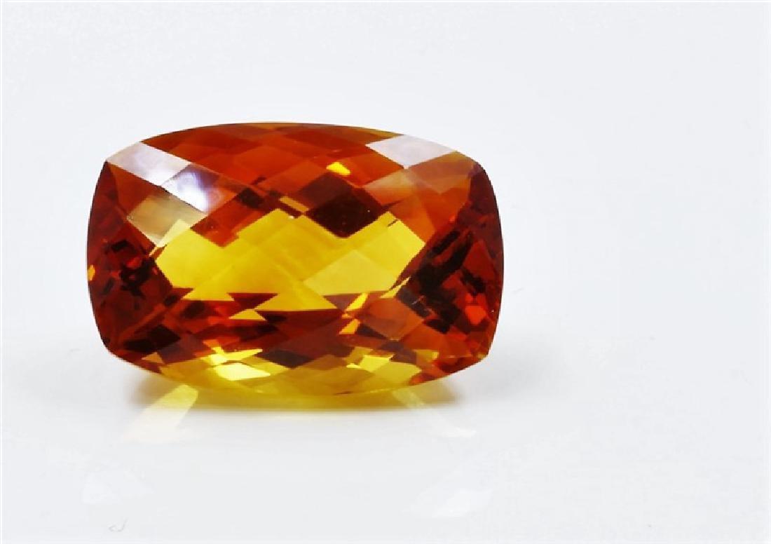 9.09ct Emerald Shape mandarin Citrine