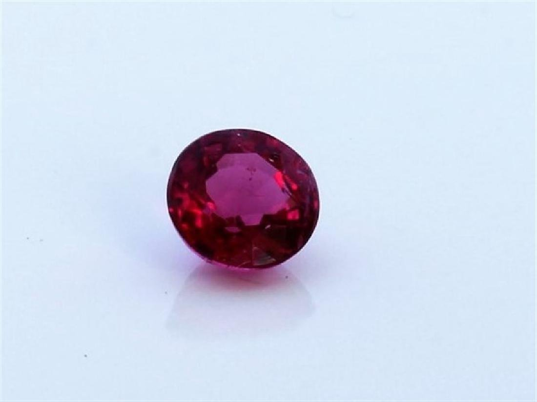0.67ct Round Shape Rubellite