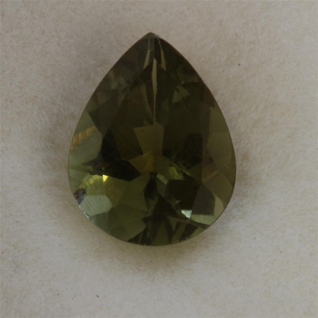 1.59ct Pear Shape Green Tourmaline