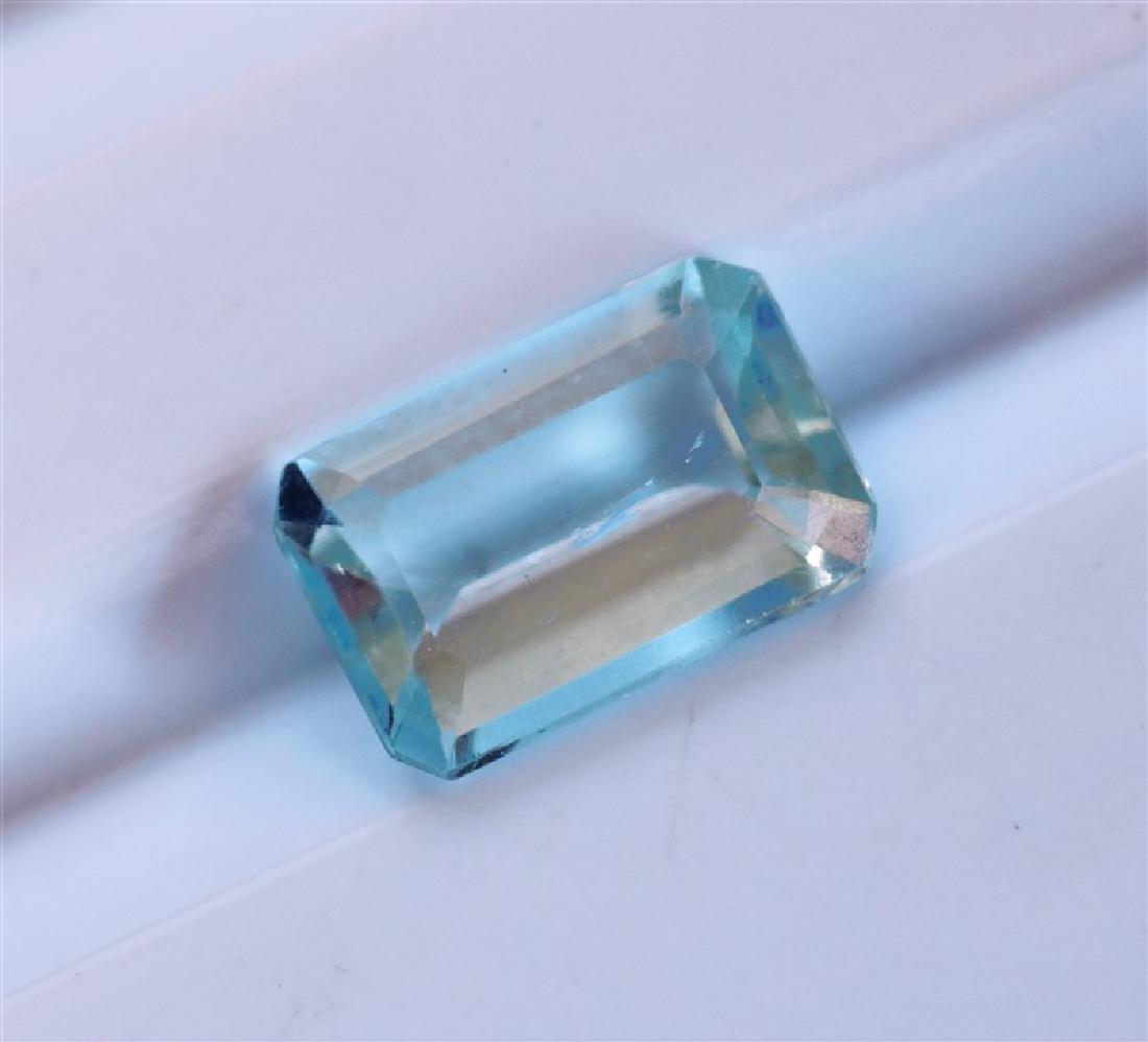1.10ct Emerald Cut Aquamarine