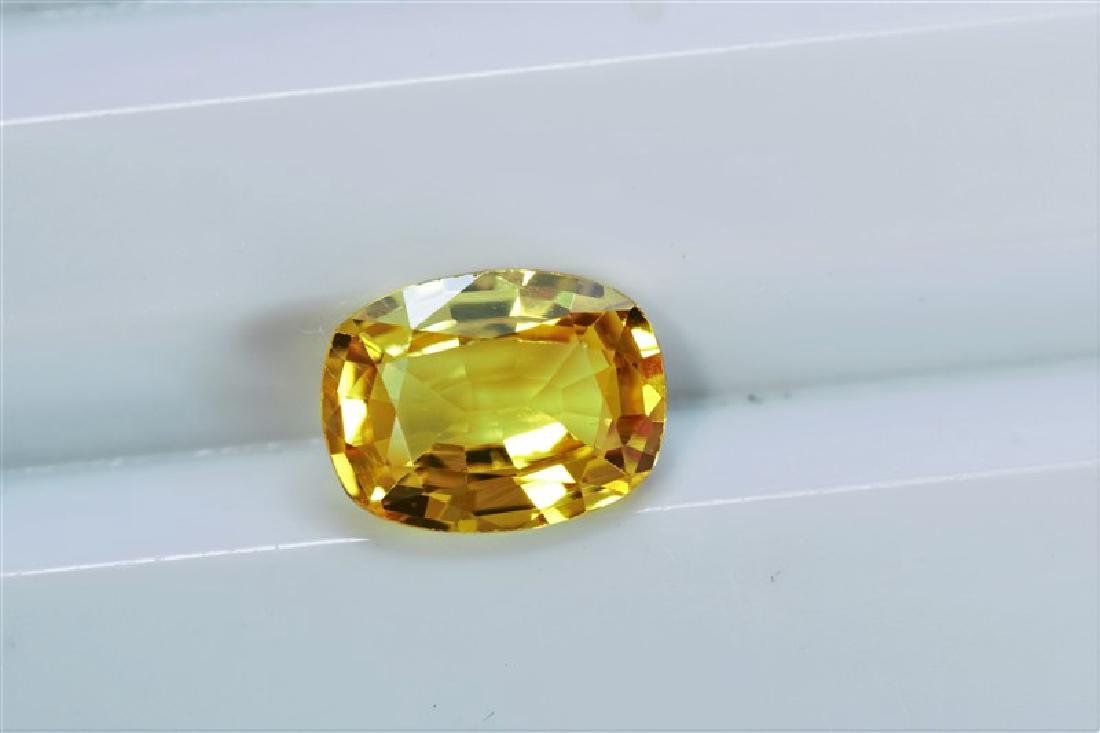 1.56ct Oval Cut Treated Natural Ceylon Yellow Sapphire