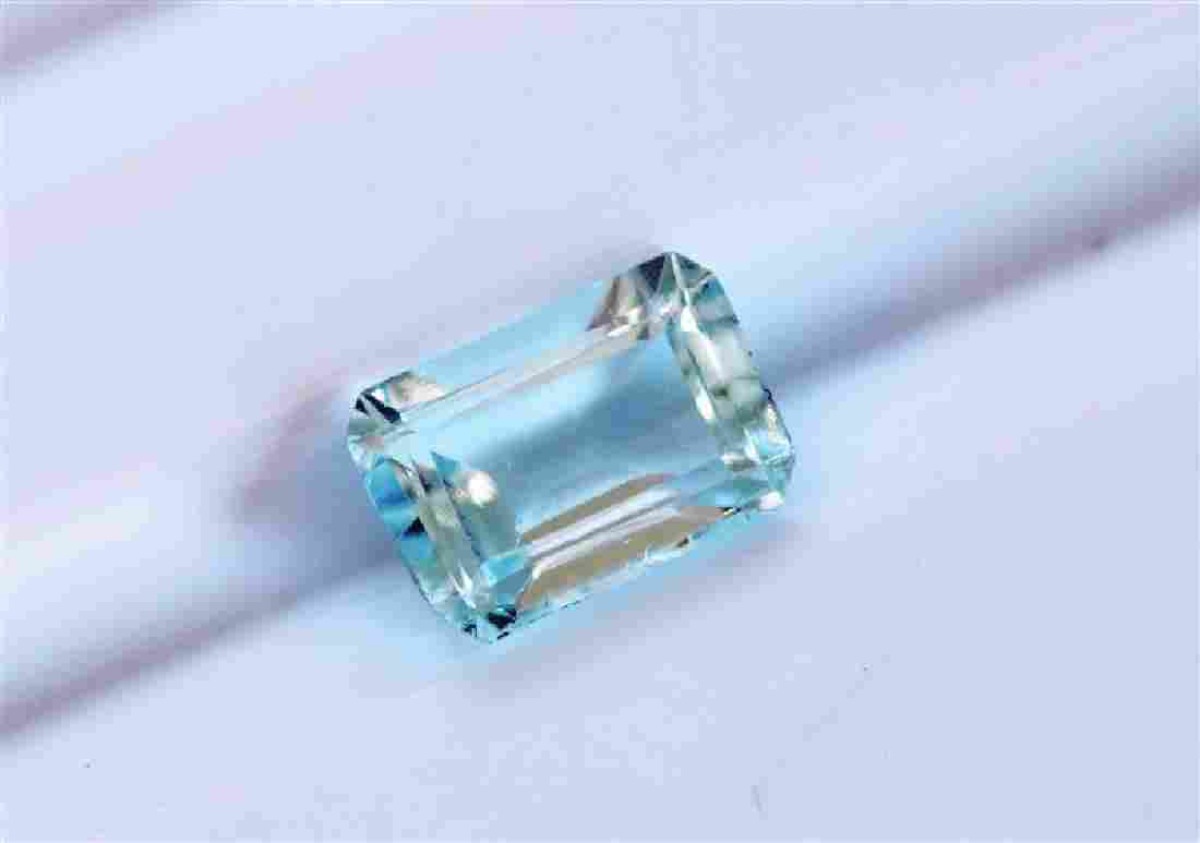 0.90ct Emerald Cut Aquamarine