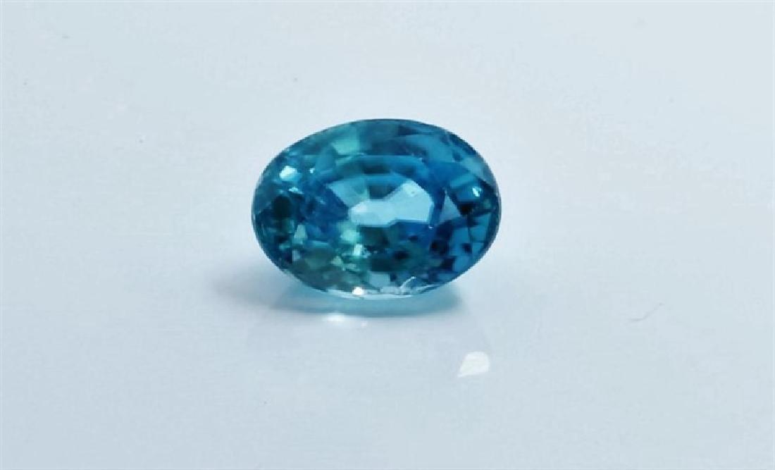 1.54ct Oval Shape blue Zircon