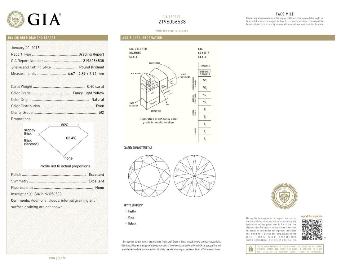 GIA/Round/FANCY-CLR/SI2/0.4Ct