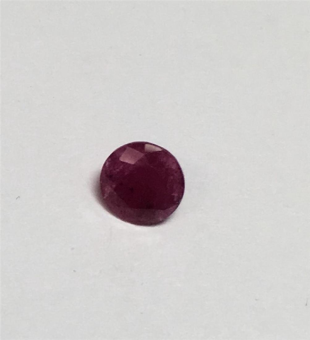 1.315ct Round Cut Ruby