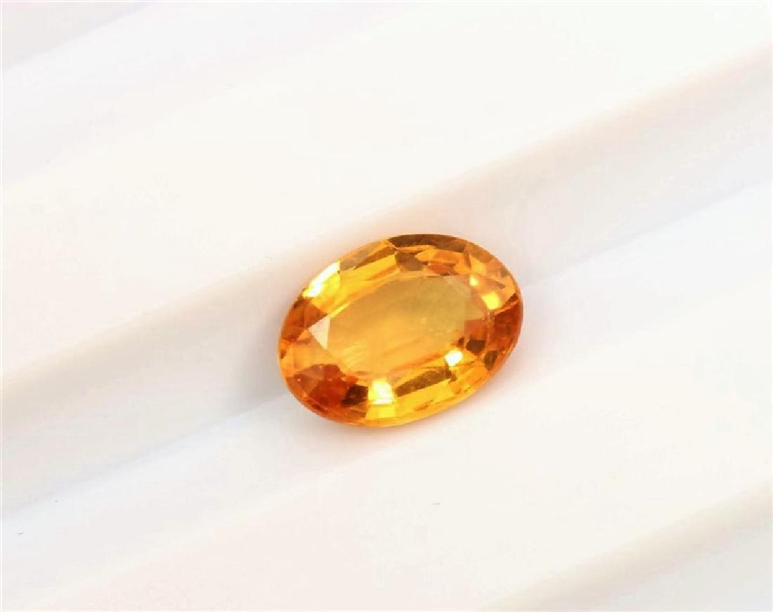 0.83ct Oval Shape Natural Ceylon Yellow Sapphire