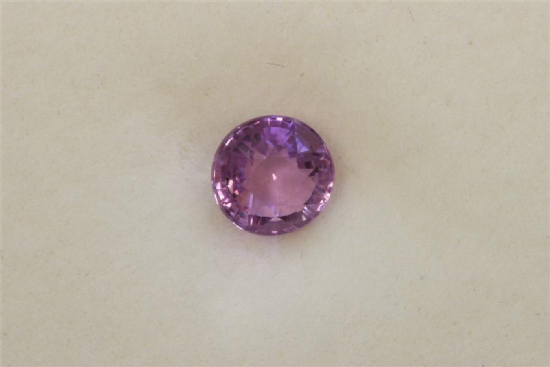 1.06ct Round Shape Pink Natural Ceylon Sapphire
