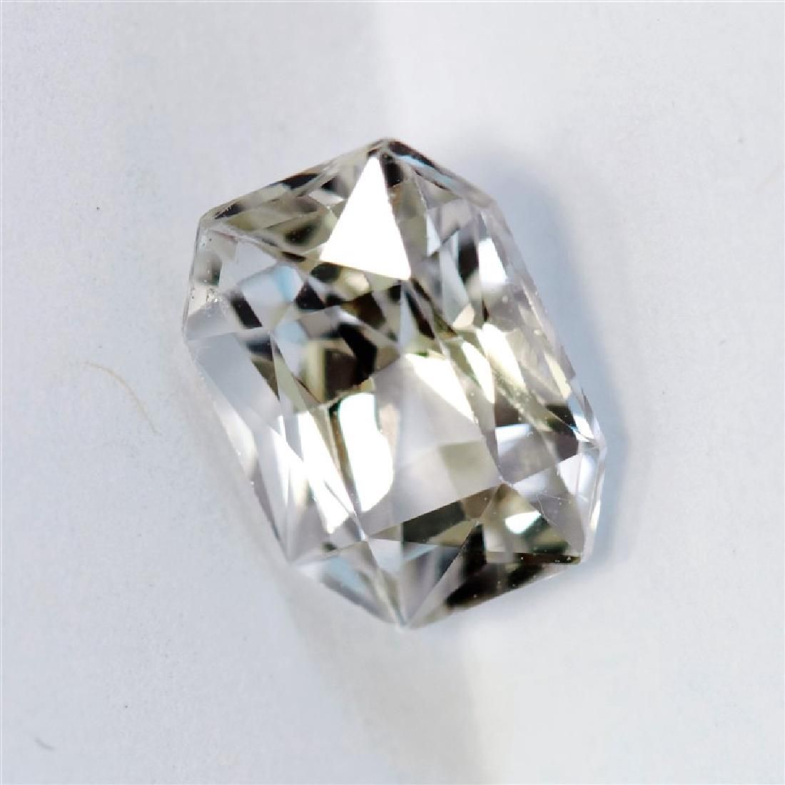 1.63CT Emerald Cut Ceylon White Sapphire