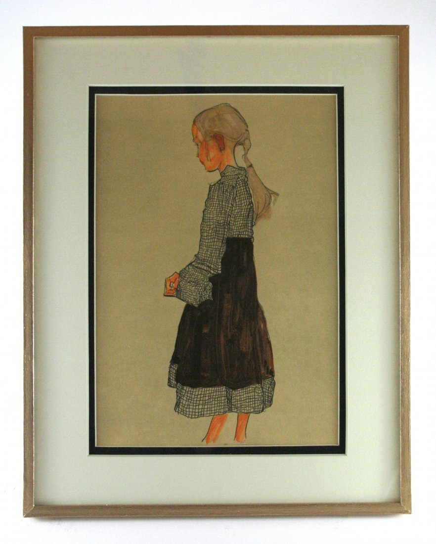 "Egon Schiele, ""Little Austrian Girl"""