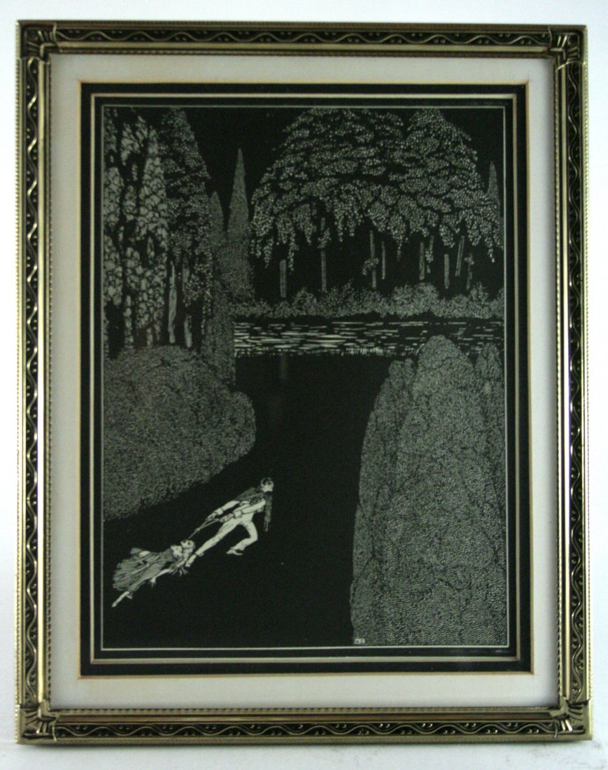Harry Clarke Antique Lithograph