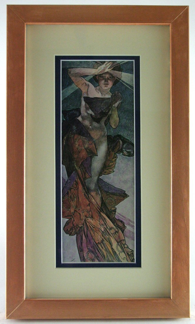 "Vintage Alphonse Mucha Lithograph ""Morning star"""