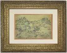Vincent Van Gogh, Black Chalk Drawing on Paper
