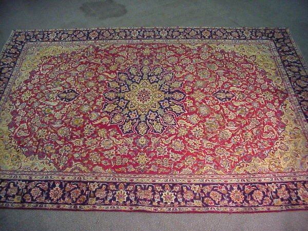 9: 9'4 x 13' Antique Persian Isfahan Rug