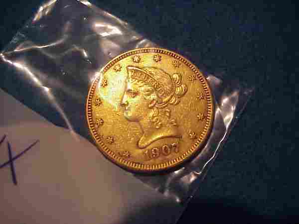 1907 $10.00 American Gold Coin