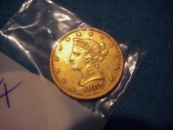 19: 1907 $10.00 American Gold Coin