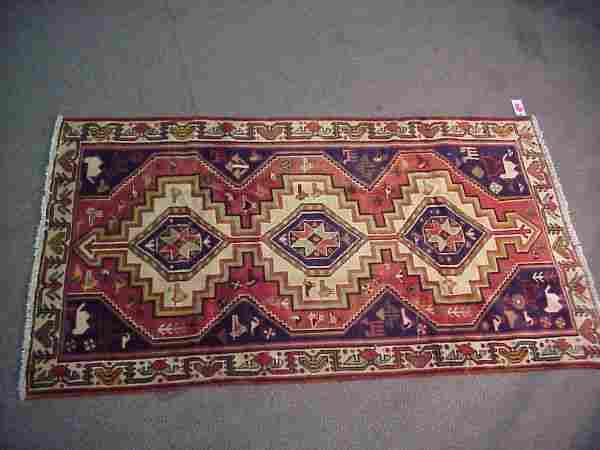 4'4 x 7'8 Antique Persian Rug