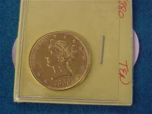 1880 $10.00 American Gold Coin