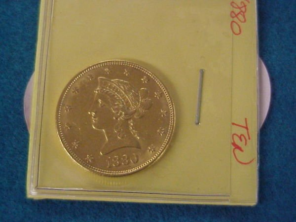 24: 1880 $10.00 American Gold Coin