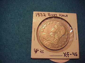 75: 1832 Bust Half
