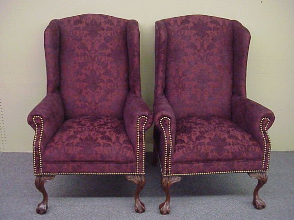 209: Pr. Wing Back Chairs