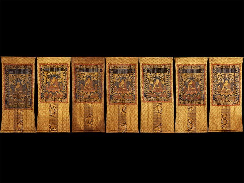 Chinese The court of seven huge thangka