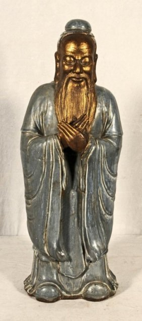 Antique chinese porcelain figure of a wiseman