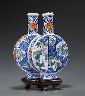 Chinese Porcelain Double Moon Flask