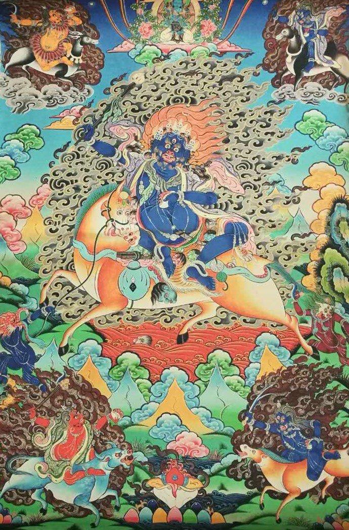 Chinese Tibetan Tangka Painting
