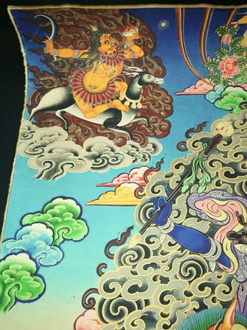 Chinese Tibetan Tangka Painting - 4