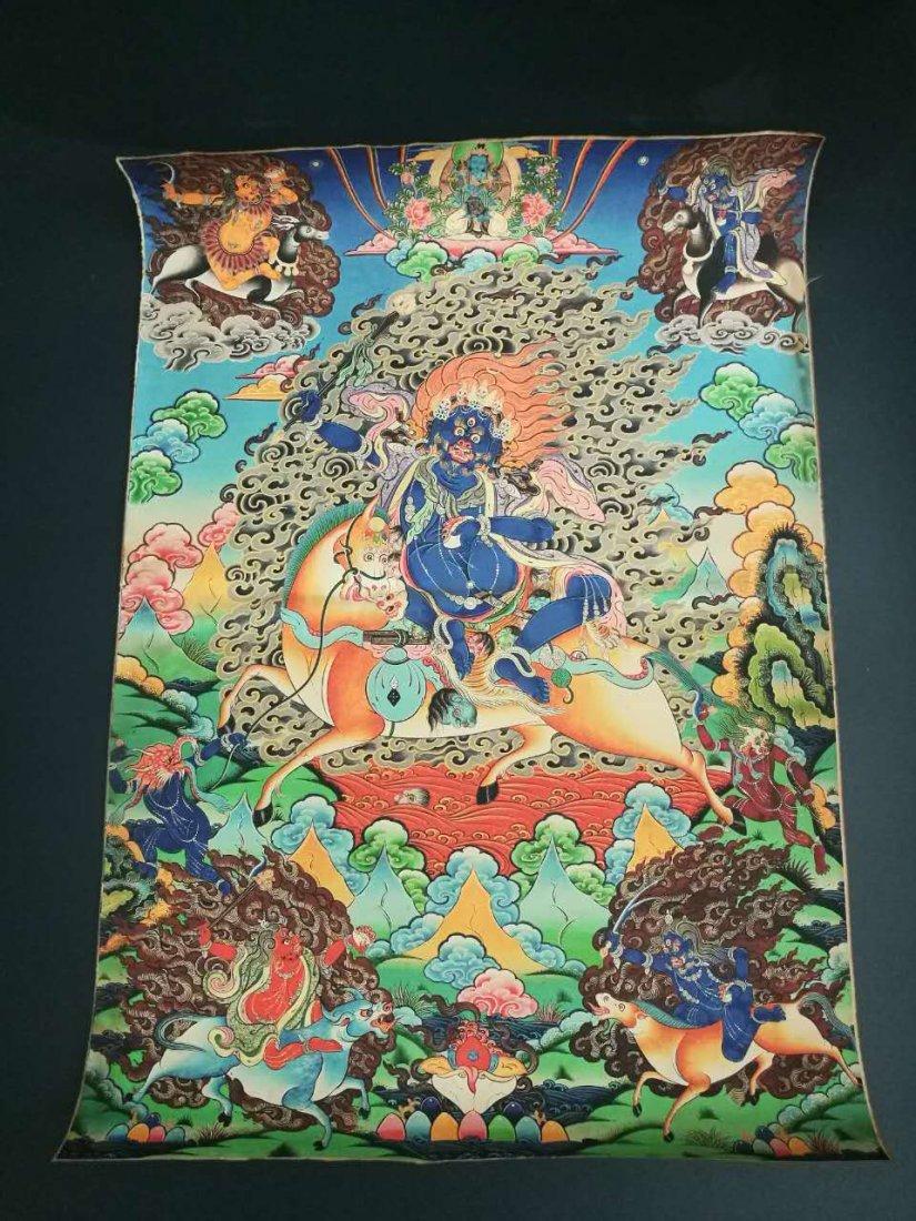 Chinese Tibetan Tangka Painting - 8