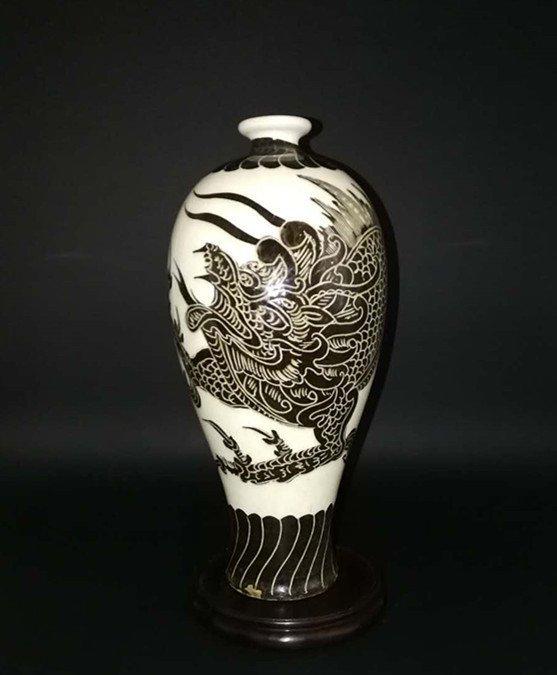 Chinese Song Cizhou kiln Porcelain Vase