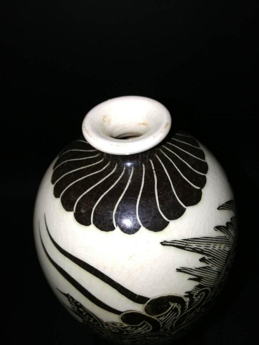 Chinese Song Cizhou kiln Porcelain Vase - 4