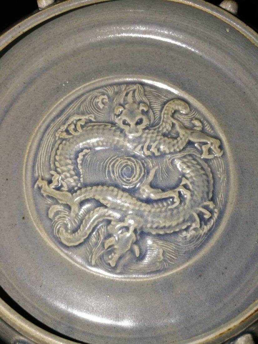 Antique Chinese Longquan kiln porcelain brush washer - 2
