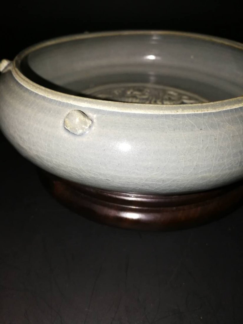 Antique Chinese Longquan kiln porcelain brush washer - 4